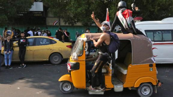 Tuk tuks have emerged as a symbol of the Iraqi protests.