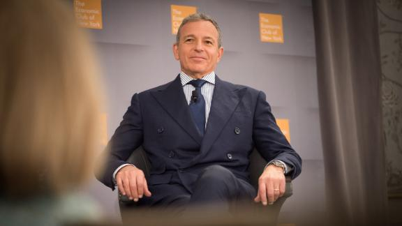 Bob Iger, chairman and chief executive officer of Walt Disney Co., listens during an Economic Club of New York event in New York, U.S., on Thursday, Oct. 24, 2019. Iger said he won't say anything for or against pro-democracy protests in Hong Kong because doing so could harm his company. Photographer: Tiffany Hagler-Geard/Bloomberg/Getty Images