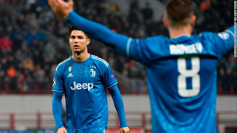 Cristiano Ronaldo Aaron Ramsey Nabs Goal From Juventus Teammate In Champions League Game Against Lokomotiv Moscow Cnn