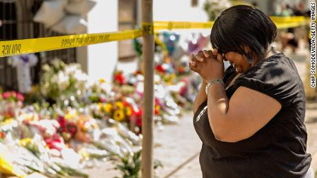 CHARLESTON, SC - JUNE 19:  A woman weeps outside the historic Emanuel African Methodist Episcopal Church,  June 19, 2015 in Charleston, South Carolina. Authorities arrested Dylann Storm Roof, 21, of Lexington, South Carolina, after he allegedly attended a prayer meeting at the church for an hour before opening fire and killing three men and six women. Among the dead is the Rev. Clementa Pinckney, a state senator and a pastor at the church, the oldest black congregation in America south of Baltimore, according to the National Park Service.  (Photo by Chip Somodevilla/Getty Images)