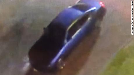 The San Diego Police Department (SDPD) released a photo of the dark sedan.