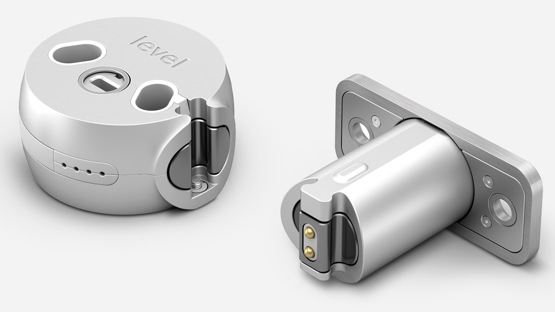 The Level Lock converts a standard deadbolt lock into a smart lock.