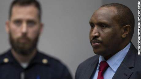 "The former Congolese militia leader Bosco Ntaganda ""Terminator"" looks on in the courtroom of the International Criminal Court in The Hague, on November 7, prior to the verdict. - Congolese 'Terminator' warlord has been sentenced to 30 years in jail for war crimes and crimes against humanity in 2002 and 2003 in Ituri, northeastern Democratic Republic of Congo. (Photo by Peter DEJONG / ANP / AFP) / Netherlands OUT (Photo by PETER DEJONG/ANP/AFP via Getty Images)"