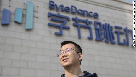 ByteDance founder Zhang Yiming is among China's billionaires. His company, which owns the TikTok app, is not yet public.