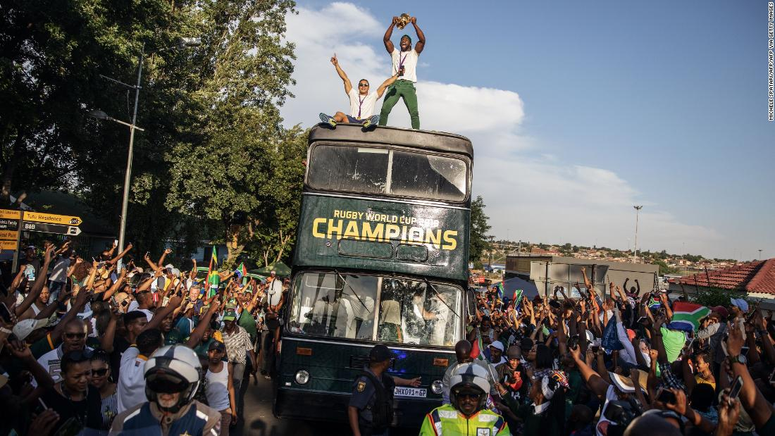 Springboks' victory parade brings joy across South Africa