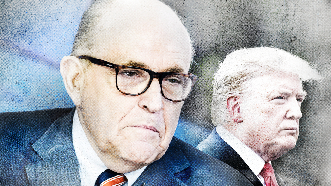 Rudy Giuliani says his new media strategy has the blessing of President Trump