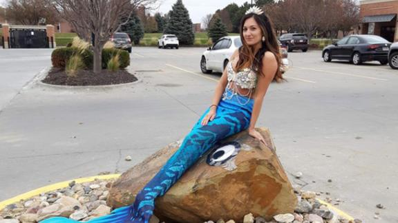 The rock in Omaha has become a popular spot for people to take photos for social media.