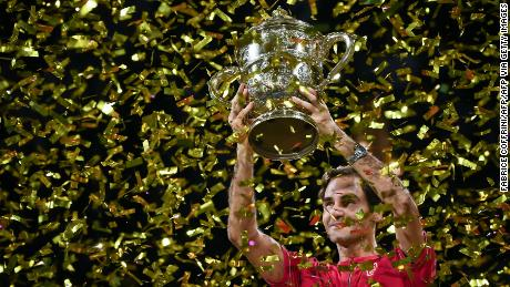 Roger Federer won his 10th title in Basel -- where he used to be a ball boy -- last month.