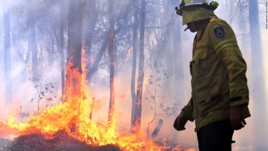 Firefighters battle historic blazes as much of rural New South Wales burns