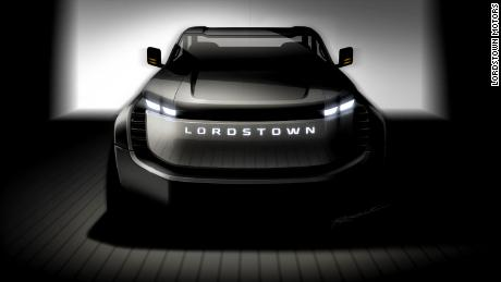 An artist rendering of a scheduled electric pickup track produced by Lordstown Motors.