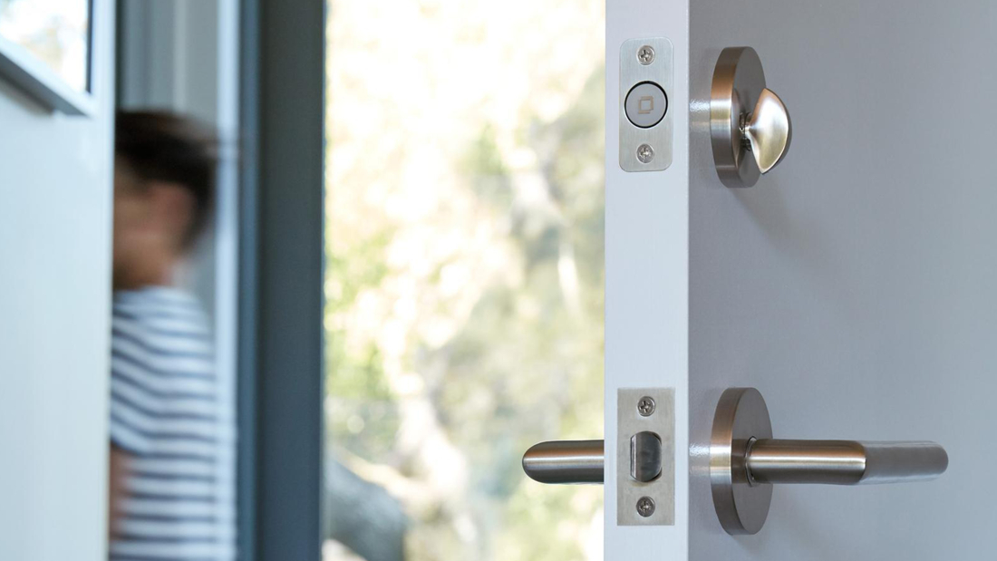 Unlike most other smart locks, the Level Lock completely fits inside of the door.