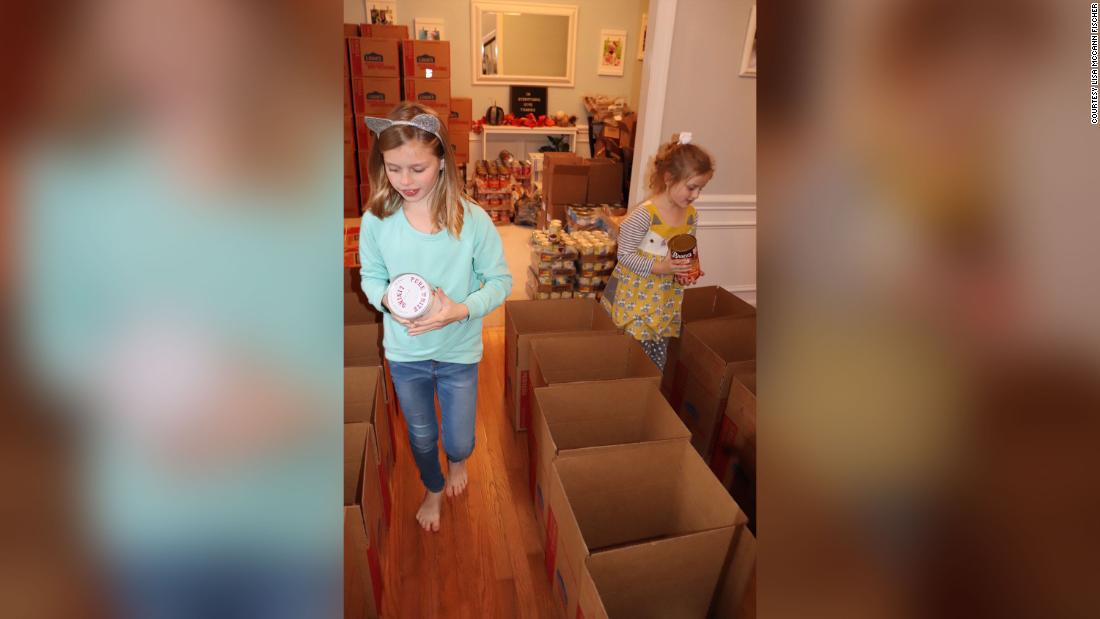 Two sisters raise thousands to buy 108 Thanksgiving meals and turkeys for families in need