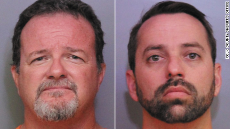 Two Disney employees, Donald Durr Jr. (left) and Brett Kinney (right) are among 17 people arrested in a child porn sting in Polk County, Florida, according to a press release from the Polk County Sheriff's Office.