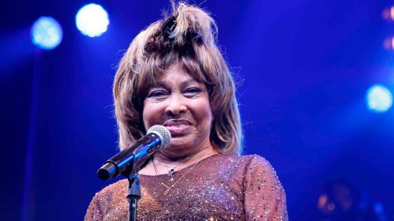 """NEW YORK, NEW YORK - NOVEMBER 07: Tina Turner speaks during the """"Tina - The Tina Turner Musical"""" opening night at Lunt-Fontanne Theatre on November 07, 2019 in New York City. (Photo by John Lamparski/Getty Images)"""
