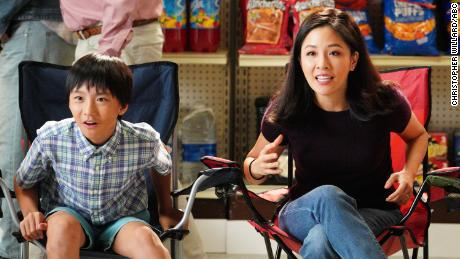 """Constance Wu, right, alongside Ian Chen. Wu plays matriarch Jessica Huang in """"Fresh Off The Boat,"""" and Chen plays one of her sons, Evan."""