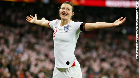 Prolific striker Ellen White scored the equalizer for England against Germany just before halftime at Wembley.
