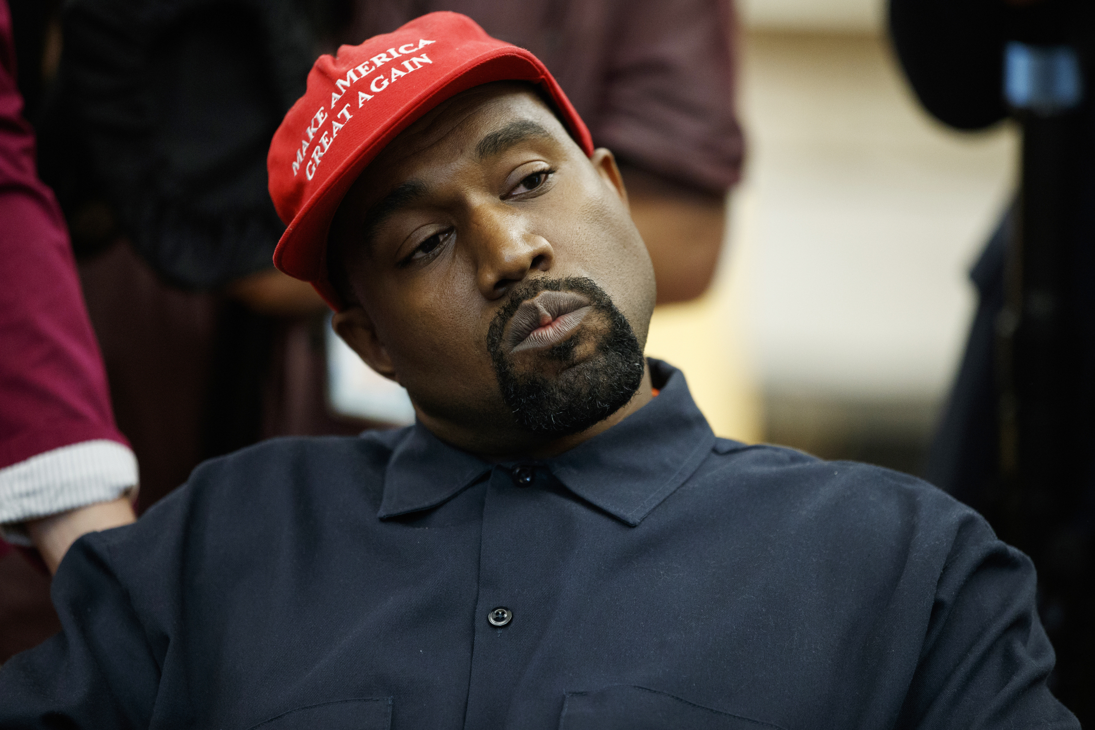 Uncle Ruckus Of The Boondocks Was Replaced With A Photo Of Kanye West In A Maga Hat Cnn