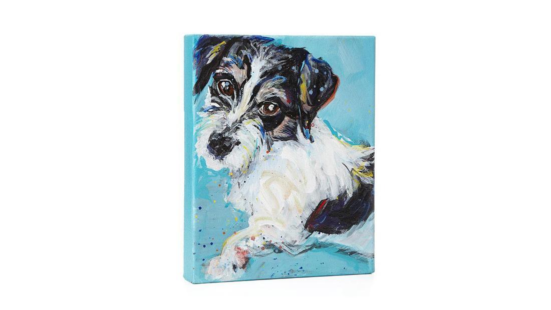 Retratos personalizados de mascotas pintadas