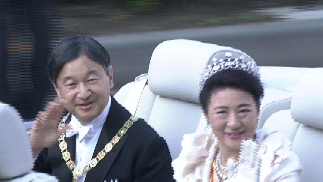 Σε Japan imperial μερικές βόλτες μέσα enthronemen παρέλαση