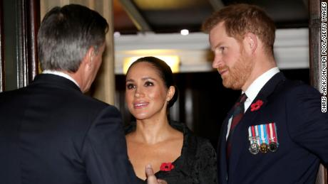 Meghan, Duchess of Sussex and Prince Harry, Duke of Sussex attend the annual Royal British Legion Festival of Remembrance at the Royal Albert Hall.