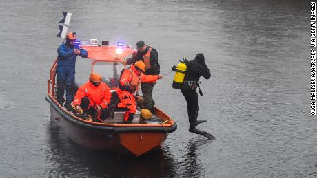Divers reportedly uncovered the remains of another person while searching the Moika River.