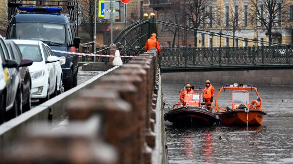 Sokolov was arrested after being pulled out of the Moika River in St. Petersburg.