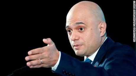 MANCHESTER, ENGLAND - NOVEMBER 07: Sajid Javid delivers a speech on the Conservative Party's plans for the economy at the Airport Runway Visitor Park at Manchester Airport on November 7, 2019 in Manchester, England. Sajid Javid, who holds the government position of Chancellor of the Exchequer in Boris Johnson's Cabinet, set out the Conservative party's plans to invest in priorities such as education, technology, and infrastructure as the engines of growth over the next decade. (Photo by Christopher Furlong/Getty Images)