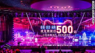 Singles Day sales for Alibaba top $38 billion, breaking last year's record