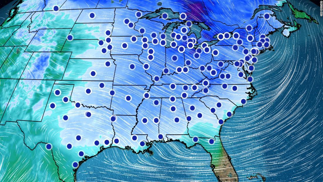 75% dari negara akan mengalami rekor suhu beku