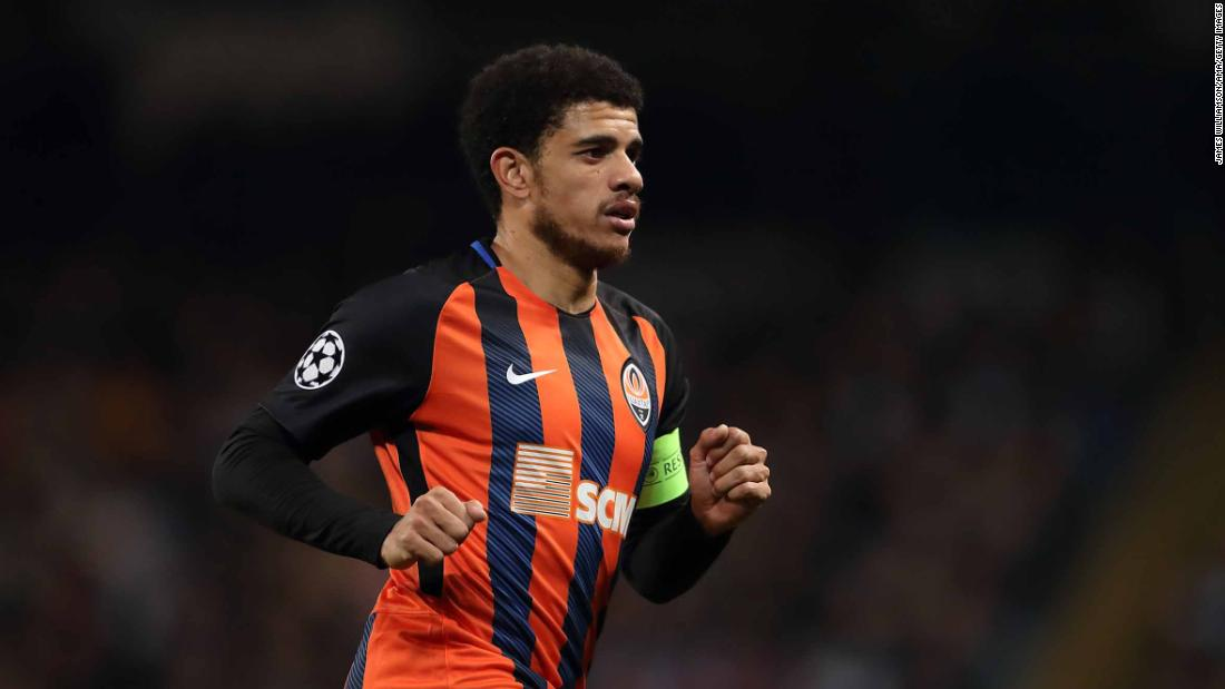 Brazilian Taison sent off after reacting to racist abuse