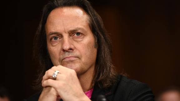 T-Mobile CEO John Legere prepares to testify at the Senate Judiciary Committee