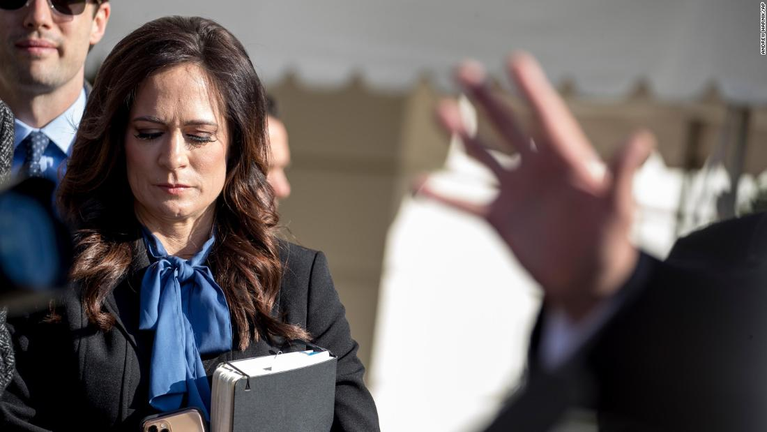 White House press secretary Stephanie Grisham has yet to hold a briefing with reporters, but finds time for Fox News