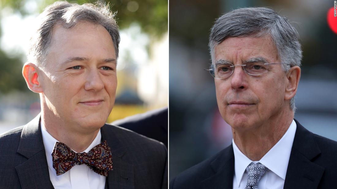 Diplomaten George Kent und Bill Taylor, bezeugen