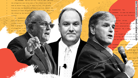 Right-wing media figures are all over Trump's impeachment deposits