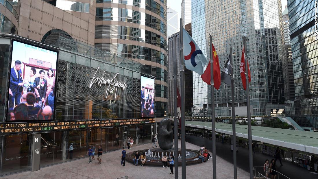 Χονγκ Κονγκ αποθέματα χλιαρό μετά βίας βράχια αγορές