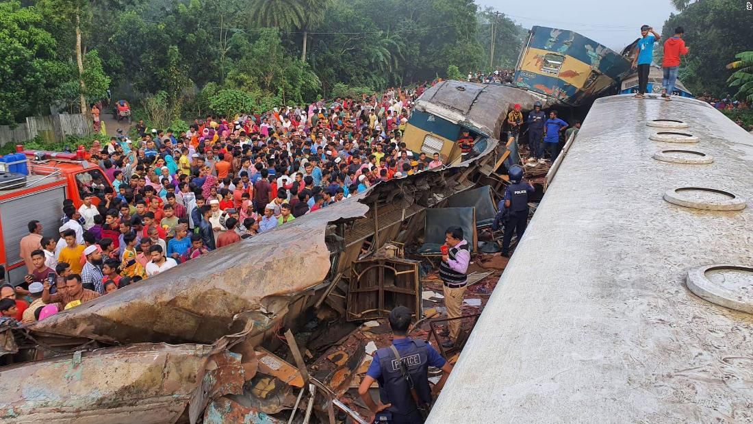 At least 12 dead after two trains collide in Bangladesh