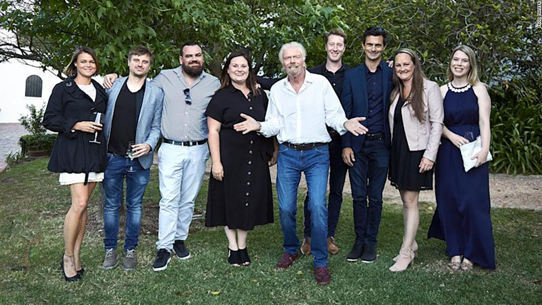 Richard Branson apologizes after tweeting photo full of white people to announce a South African project