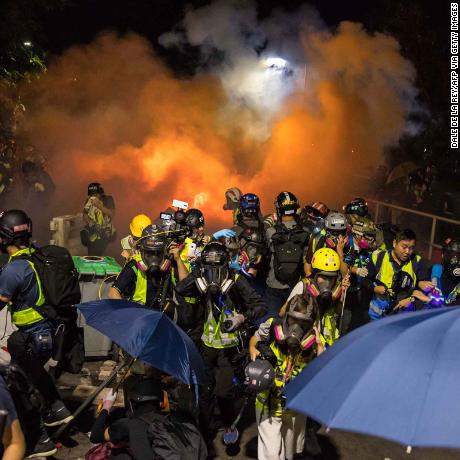 Hong Kong 'on brink of a total breakdown' (Police say those who support protesters are accomplices to the growing violence in the city)