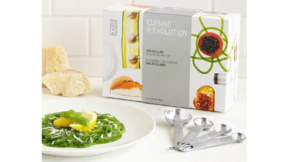 Molecular Gastronomy Kit ($49; uncommongoods.com): Take your cooking skills to new, avant-garde heights with this easy-to-use gastronomy kit; it comes with all the ingredients and tools you