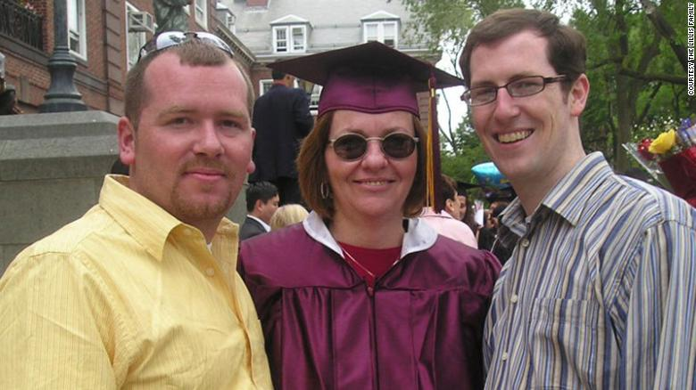 Peggy Liliis and her sons, Christian and Liam. Peggy was 56-years-old when she contracted C. diff.