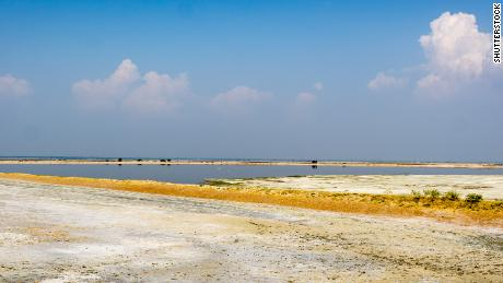 The Sambhar Salt Lake, India's largest inland salt lake, is in the northwestern state of Rajasthan.