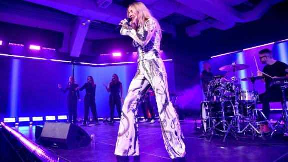 Ellie Goulding performs in New York during Vevo