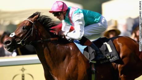 Jockey James Doyle riding Kingman to win the St James's Palace Stakes at Royal Ascot in 2014.