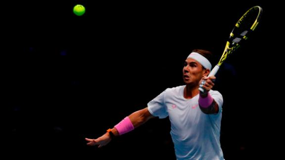 Rafael Nadal saved a match point to beat Daniil Medvedev at the ATP Finals on Wednesday in London.