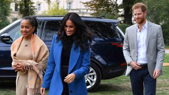 Harry and Meghan arrive at an engagement in 2018 with Meghan