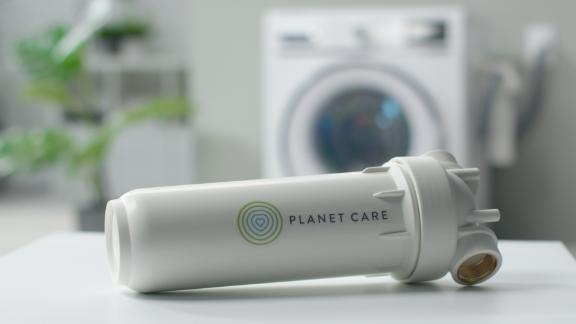 PlanetCare makes a washing machine filter to help keep microfibers from entering the environment.