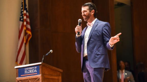 Donald Trump Jr. and Kimberly Guilfoyle were paid $50,000 in student fees to speak at the University of Florida on October 10, 2019.