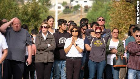Parents are waiting to reunite with their children after the shooting at Saugus High School in Santa Clarita, California.