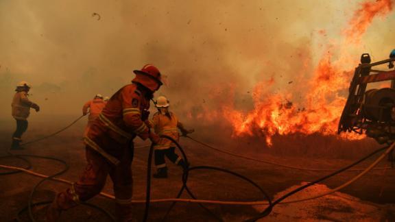 RFS Firefighters battle a spot fire on November 13 in Hillville.