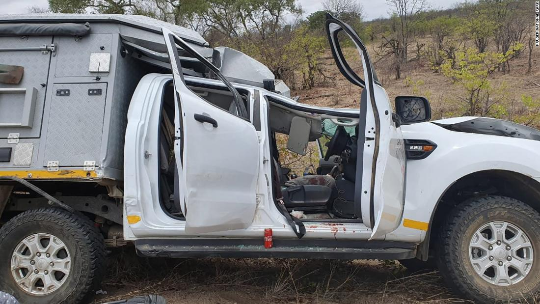A tourist and a giraffe were killed in tragic car accident in a South African park